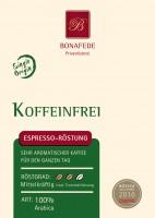 Entkoffeinierter Espresso