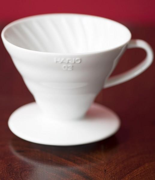 Zubehör - Hario V60 Keramik Dripper, weiß (1-4 Tassen)